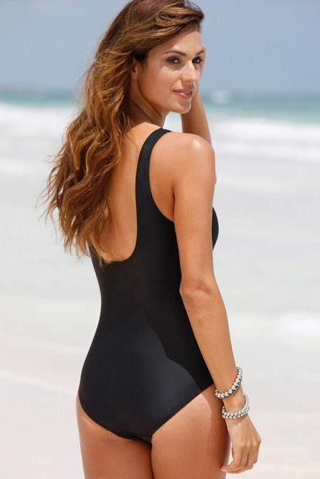 2017 Sexy Black One Piece Swimwear