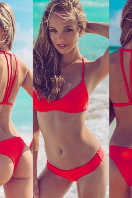 2018 Sexy Two-Piece Bikini Swimsuit