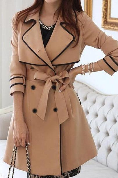 Slim double-breasted coat jacket #100110AX
